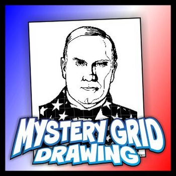 Mystery Grid Drawing President 25 William McKinley