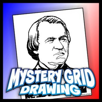 Mystery Grid Drawing President 17 Andrew Johnson