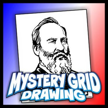 Mystery Grid Drawing President 20 James A. Garfield