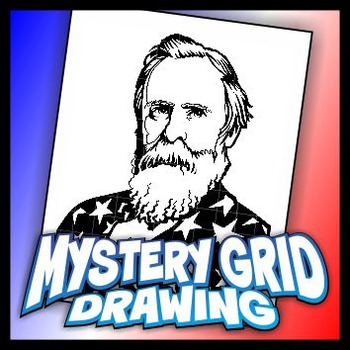 Mystery Grid Drawing President 19 Rutherford B Hayes