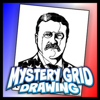 Mystery Grid Drawing President 26 Theodore Roosevelt