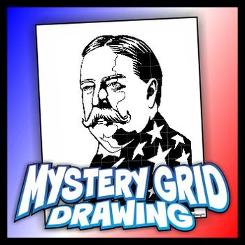 Mystery Grid Drawing President 27 William H Taft
