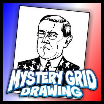 Mystery Grid Drawing President 28 Woodrow Wilson