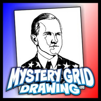 Mystery Grid Drawing President 30 Calvin Coolidge