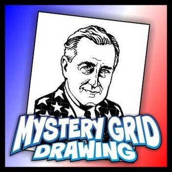 Mystery Grid Drawing President 32 Franklin D Roosevelt