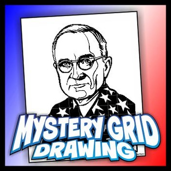Mystery Grid Drawing President 33 Harry S Truman