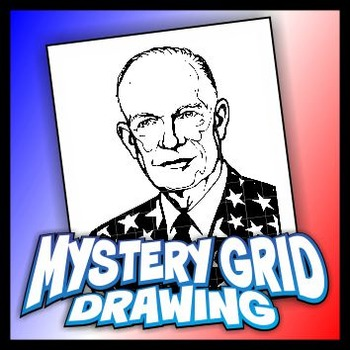Mystery Grid Drawing President 34 Dwight D Eisenhower