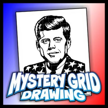 Mystery Grid Drawing President 35 John F Kennedy