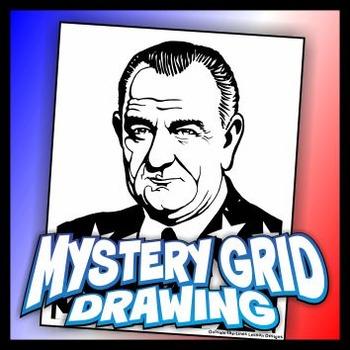 Mystery Grid Drawing President 36 Lyndon B Johnson