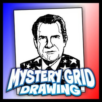 Mystery Grid Drawing President 37 Richard Nixon