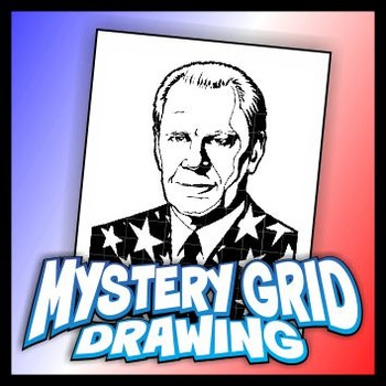 Mystery Grid Drawing President 38 Gerald Ford
