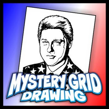Mystery Grid Drawing President 42 William Jefferson Clinton
