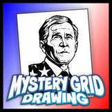 Mystery Grid Drawing President 43 George W. Bush