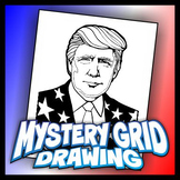 Mystery Grid Drawing President 45 Donald J. Trump