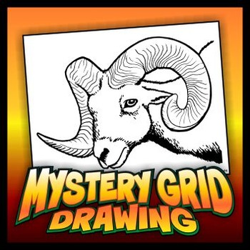 Mystery Grid Drawing - Ram