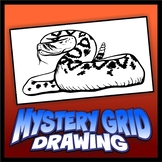 Mystery Grid Drawing - Rattlesnake