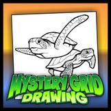Mystery Grid Drawing - Sea Turtles