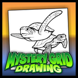 Mystery Grid Drawing - Sea Turtles