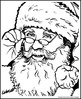 Mystery Grid Drawing - Shaded Santa Claus Art Project