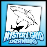 Mystery Grid Drawing - Sharks