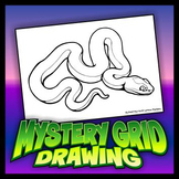 Mystery Grid Drawing - Snake