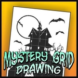 Mystery Grid Drawing - Spooky House