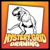 Mystery Grid Drawing - T-Rex