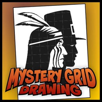 Mystery Grid Drawing - Thanksgiving