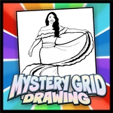 Mystery Grid Drawing - Traditional Mexican Dancer