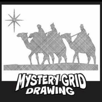 Mystery Grid Drawing - Wise Men