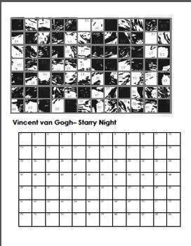 Famous Art Scramble Drawing Worksheets 2