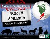 Mystery Grid Drawings: Animals of the World NORTH AMERICA!
