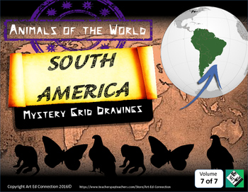 Mystery Grid Drawings: Animals of the World SOUTH AMERICA!