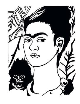 Mystery Grid Drawing - Frida Kahlo