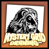 Mystery Grid Drawing - Lion