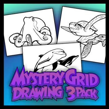 Mystery Grid Three-Pack 16 - Sea Life