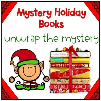 Mystery Holiday Books EDITABLE (Unwrap the Mystery)