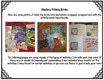 Holiday Books EDITABLE (Unwrap the Mystery)