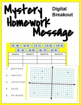 Mystery Homework Digital Breakout