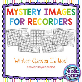 Mystery Images for Recorder - Winter Games