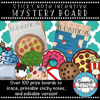 Mystery Incentive Prize Board *Editable*