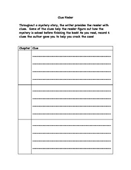 Mystery Independent Reading Contract