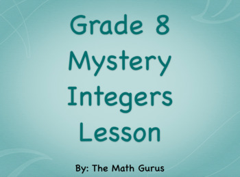 Mystery Integers Lesson