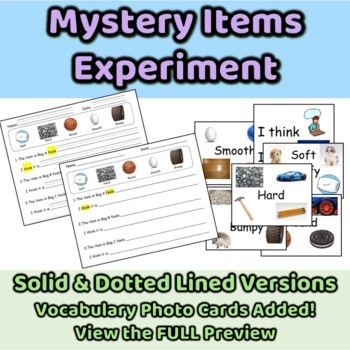 Mystery Items Experiment - Using Adjectives and Sense of Touch ENL ESL EFL SWD