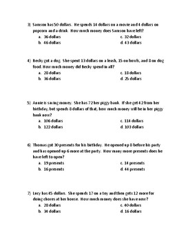 Mystery Joke Freebie (Multi-step Addition and Subtraction Word Problems
