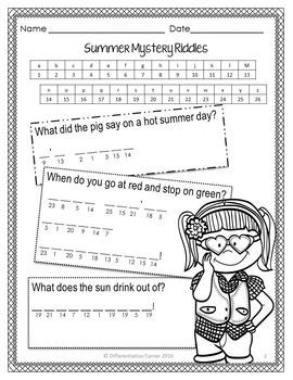 Mystery Jokes & Riddles Summer jokes for kids