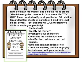 Mystery Journal ~ Sleuth Notebook  ~ Elements of a Mystery