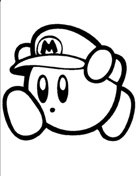 Mystery Kirby Mario Grid Drawing