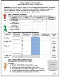 Playdough Kitchen Measurement Lab: Equivalents, Abbreviati