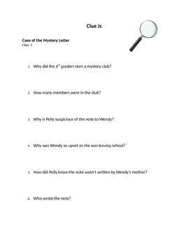Mystery Lesson: Clue Jr.
